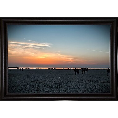 Highland Dunes 'Night Incoming' Photographic Print; Bistro Expresso Framed Paper
