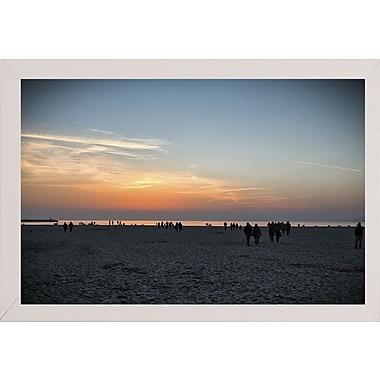 Highland Dunes 'Night Incoming' Photographic Print; White Wood Medium Framed Paper