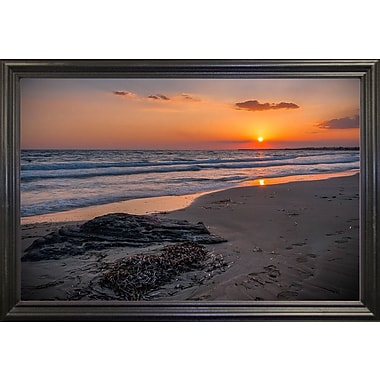 Highland Dunes 'The End of the Sun' Photographic Print; Black Wood Grande Framed Paper