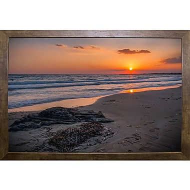 Highland Dunes 'The End of the Sun' Photographic Print; Cafe Mocha Framed Paper