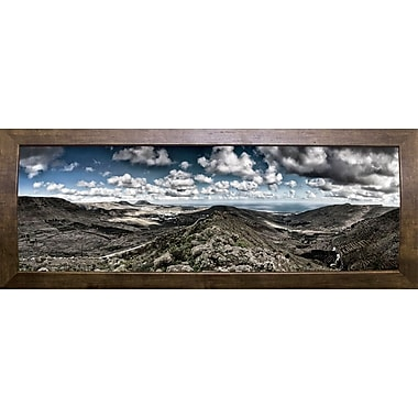 Latitude Run 'Panorama Lanzarote' Photographic Print; Cafe Mocha Framed Paper