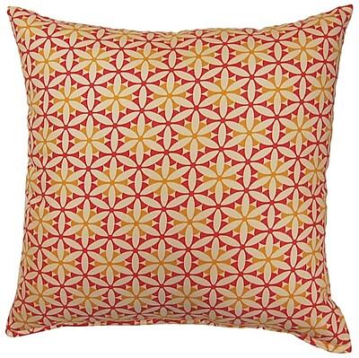 Latitude Run Sisemore Cotton Throw Pillow; Sorbet