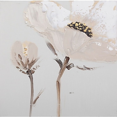 Ophelia & Co. 'Flower and Nature' 2 Piece Painting on Canvas Set in White/Gray