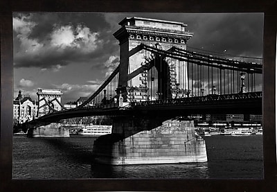 Williston Forge 'Budapest Chain Bridge Black and White' Photographic Print