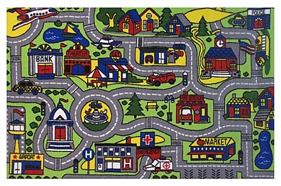 Zoomie Kids Fornax Driving Time Area Rug; 4'3'' x 6'6''
