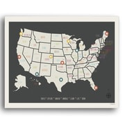 Williston Forge 'USA Travel Map' Graphic Art