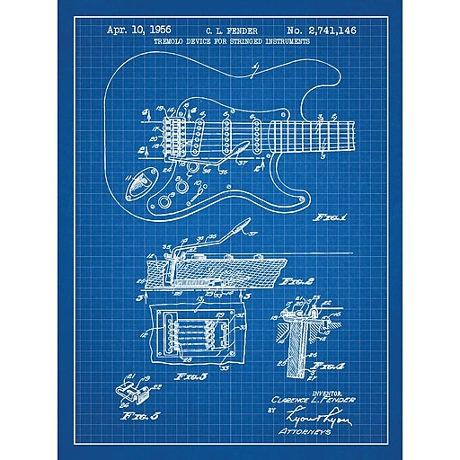 Williston forge fender stratocaster guitar blueprint graphic art httpsstaples 3ps7is malvernweather Choice Image
