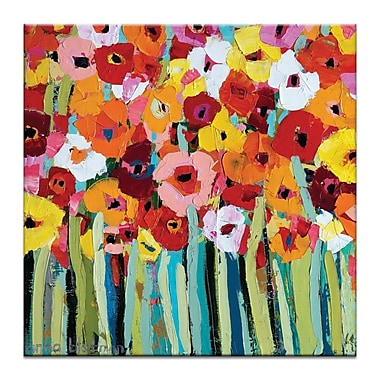 Latitude Run 'Julies Blooms' Painting Print on Canvas; 24'' H x 24'' W x 1.5'' D