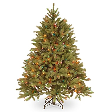 Gracie Oaks Feel Real Fraser 4.5' Fir Artificial Christmas Tree w/ 350 Multi Lights