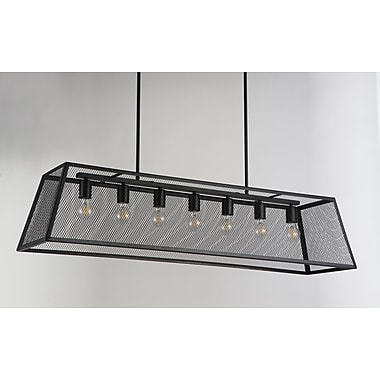 17 Stories Danilo 7-Light Kitchen Island Pendant
