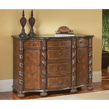 South Sea Rattan 2 Door 6 Drawer Accent Cabinet