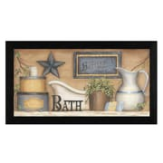 Highland Dunes 'Buttermilk Soap' Rectangle Framed Graphic Art Print on Canvas