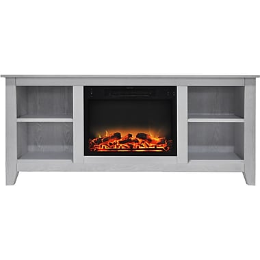 Alcott Hill Brook Hollow Modern Electric Fireplace; White