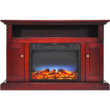 Alcott Hill Broncho Modern Electric Fireplace; Cherry