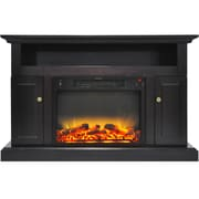 Alcott Hill Broncho Modern Electric Fireplace; Black Coffee