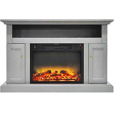 Alcott Hill Broncho Modern Electric Fireplace; Gray