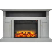 Alcott Hill Broncho Modern Electric Fireplace; Gray