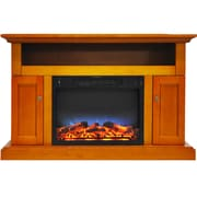 Alcott Hill Broncho LED Electric Fireplace; Teak
