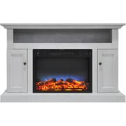 Alcott Hill Broncho LED Electric Fireplace; White