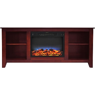 Alcott Hill Brook Hollow LED Electric Fireplace; Cherry