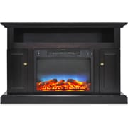 Alcott Hill Broncho LED Electric Fireplace; Black Coffee