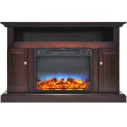 Alcott Hill Broncho LED Electric Fireplace; Mahogany