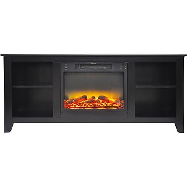 Alcott Hill Brook Hollow Modern Electric Fireplace; Black Coffee