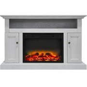 Alcott Hill Broncho Modern Electric Fireplace; White