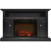 Alcott Hill Broncho Electric Fireplace; Black Coffee