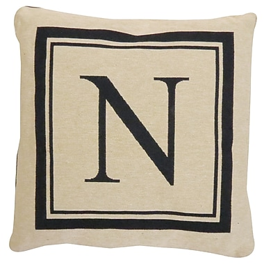 Alcott Hill Beaver Creek Monogram Throw Pillow; N