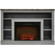 Charlton Home Eudora Electric Fireplace; Gray