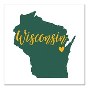 East Urban Home 'Wisconsin Pride' Graphic Art Print on Canvas