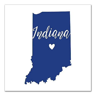 East Urban Home 'Indiana Pride' Graphic Art Print on Canvas