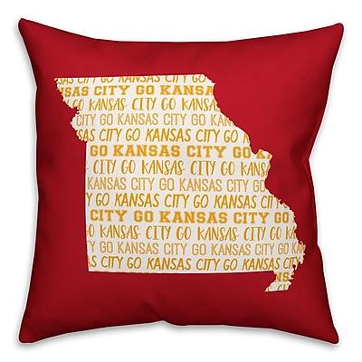 East Urban Home Missouri Go Team Throw Pillow