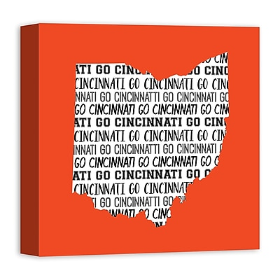 East Urban Home 'Ohio Go Team' Square Graphic Art Print on Canvas