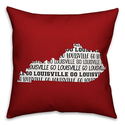 East Urban Home Kentucky Go Team Square Throw Pillow
