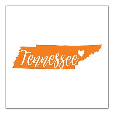 East Urban Home 'Tennessee Pride' Square Graphic Art Print on Canvas