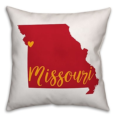 East Urban Home Missouri Pride Throw Pillow