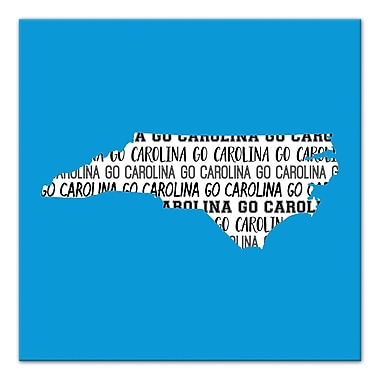 East Urban Home 'North Carolina Go Team' Graphic Art Print on Canvas