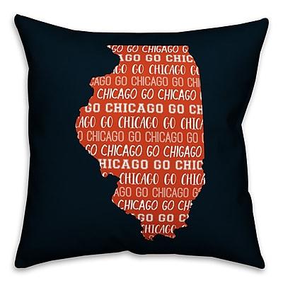 East Urban Home Illinois Go Team Throw Pillow