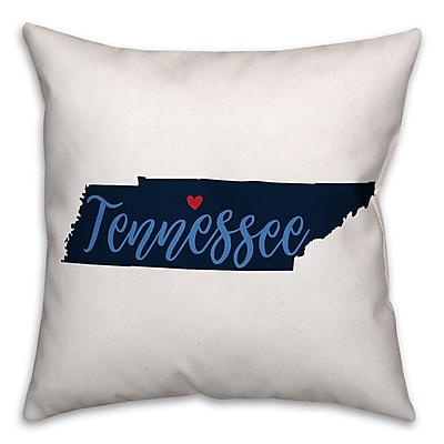 East Urban Home Tennessee Pride Square Throw Pillow