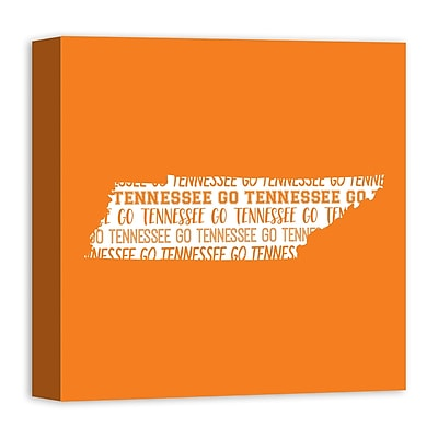 East Urban Home 'Tennessee Go Team' Graphic Art Print on Canvas in Orange/White