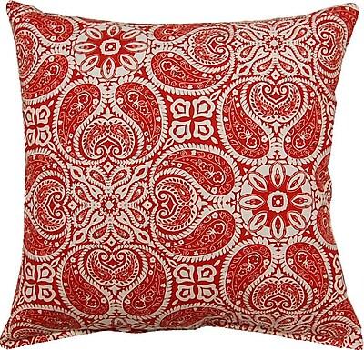 Bungalow Rose Dacia 100pct Cotton Throw Pillow; Cayenne