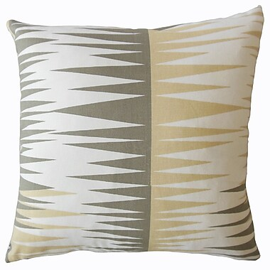 Brayden Studio Wetzel Geometric Down Filled 100pct Cotton Lumbar Pillow; Camel