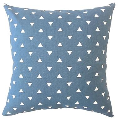 Brayden Studio Wight Geometric Down Filled 100pct Cotton Lumbar Pillow; Navy