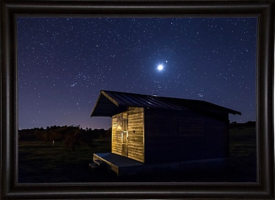 Ebern Designs 'Sun or Moon' Photographic Print; Rolled Canvas