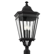 Darby Home Co Chilhowee 3-Light Post Outdoor Lantern; 27.5'' H x 12'' W x 12'' D