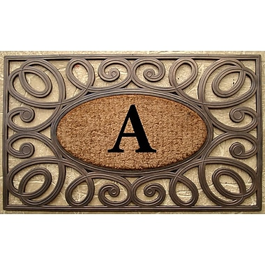 Darby Home Co Baggs Monogrammed Doormat; A