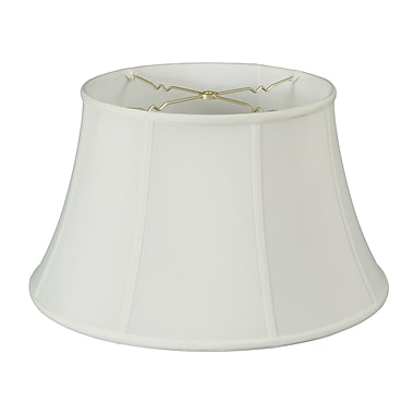 Darby Home Co 19'' Silk/Shantung Bell Lamp Shade; White
