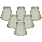 Darby Home Co 5'' Silk/Shantung Bell Candelabra Shade (Set of 6); Gray